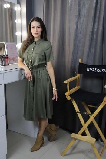 Sukienka w kolorze khaki