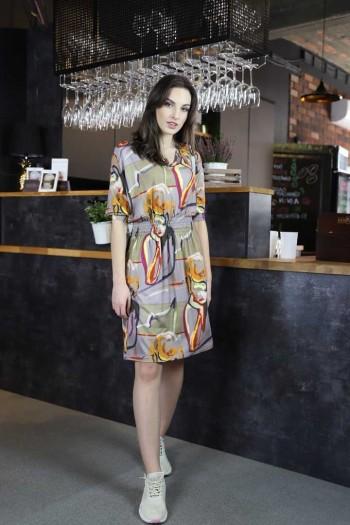 Sukienka druk abstrakcja