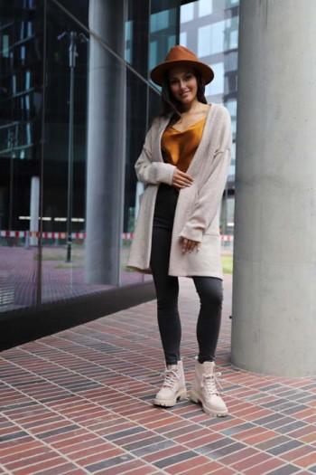 Sweter beżowy kardigan